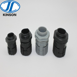 Fast conduit union plastic connector for flexible corrugated hose