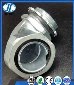90 degree right angle elbow joint for flexible metal corrugated pipe
