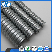 galvanized square lock flexible corrugated metal conduit